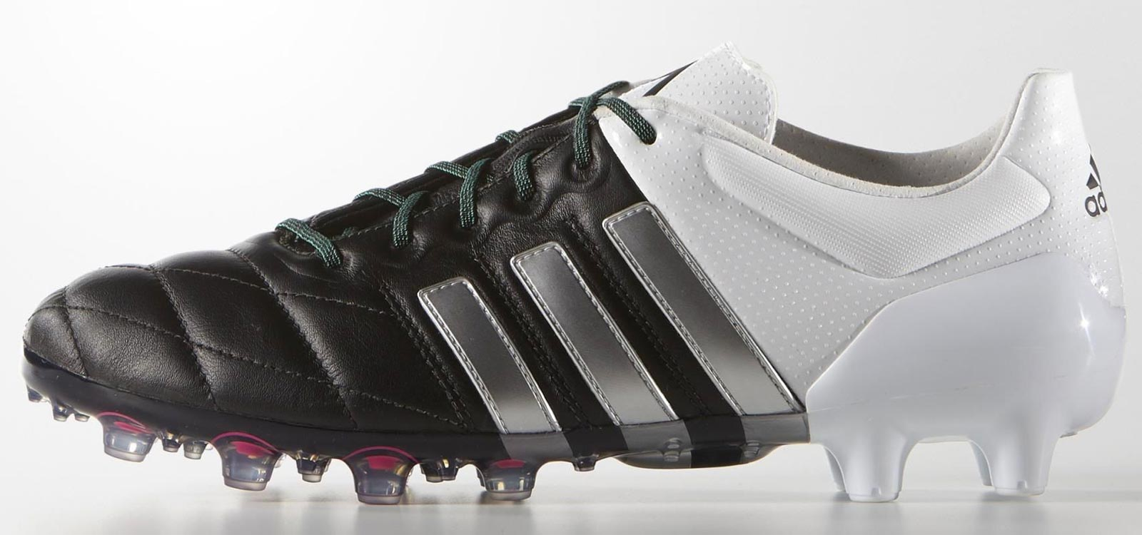 new arrival 11503 3ae68 ... wholesale black white adidas ace 2015 2016 leather boots d9600 9c5c8